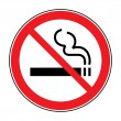 Постер, плакат: No smoking sign