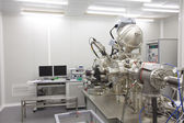 Cleanroom in nuclear research centre, molecular beam epitaxy