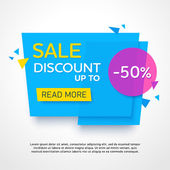 Ecommerce bright banner Nice plastic cards in material design style Transparent blue purple and yellow paper Vector illustration