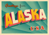 Vintage Touristic Greeting Card - Key West Alaska - Vector EPS10 Grunge effects can be easily removed for a brand new clean sign