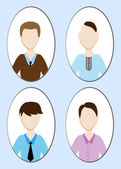 Cartoon illustration of a handsome young man with various hair style Vector illustration