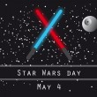 Постер, плакат: Star wars day vector