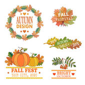 Autumn badges logos sale banners elements and labels can be used to design packages of goods during autumn sales