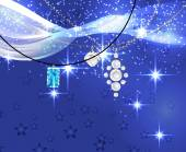Vector illustration of jewelry on blue background