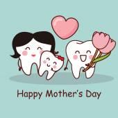 Zub s šťastné matky den