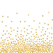 Abstract pattern of random falling golden dots on white  background Elegant pattern for background textile paper packaging and other design Vector illustration