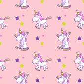 Cute unicorn seamless pattern vector 03