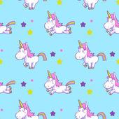 Cute unicorn seamless pattern vector 01