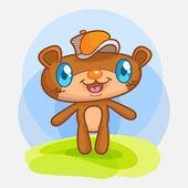 Cute mini bear vector cartoon 01