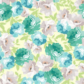 Seamless floral pattern with blue roses