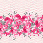 Seamless floral pattern with pink  roses Use to create fabric projects greeting Cards or design elements for scrap booking