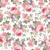 Beautiful floral seamless pattern with Beautiful  Flowers wild roses