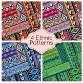Four Ethnic Tribes Patterns Ornament