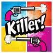 Постер, плакат: Pop Art comics icon Killer