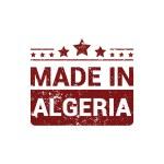 Постер, плакат: Made in Algeria Round stamp