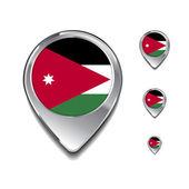 Jordan vlajky špendlíky