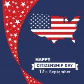 17th September American Citizenship Day Poster Design template