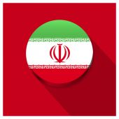 Long shadow Iran flag Button