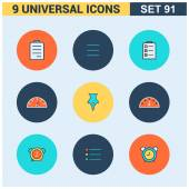 Vector collection of flat Universal Icons set Big package of modern minimalist thin line icons Design elements for mobile and web applications