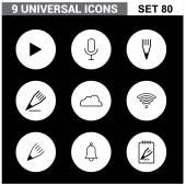 Abstrakte Sammlung set flach universelle Symbole