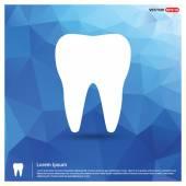 Zub - abstraktní logo typu ikonu