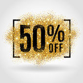 Gold sale 50 percent on gold background Gold sale background for flyer poster shopping for sale sign discount marketing selling banner web header Gold blur background
