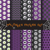 Halloween patterns set vector Endless texture can be used for wallpaper pattern fills web pagebackgroundsur face