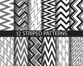 12 black and white  striped patterns  Pattern Swatches vector Endless texture can be used for wallpaper pattern fills web pagebackgroundsurface