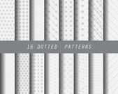 16 dotted patterns Pattern Swatches vector Endless texture can be used for wallpaper pattern fills web pagebackgroundsurface