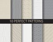 10 different beautiful classic linear and dot patterns Endless texture can be used for wallpaper pattern fills web page backgroundsurface texturestile greeting card scrapbook backdrop