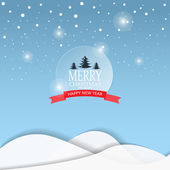Merry Christmas greeting card with lettering logo can be use for background backdrop and web page design vector illustration