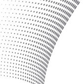 3d halftone dots gray dots on white background vector