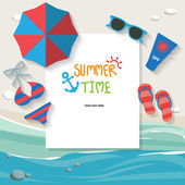 Summer vacation background text can be add for advertising wallpaper greeting card