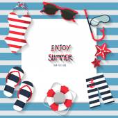 Summer vacation background sailor concept text can be add for advertising wallpaper greeting card