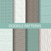 Vintage seamless patterns, endless texture background. vector