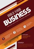 Vector Business Flyer. Business background. Vector template. Poster.