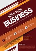 Vektor-Business-Flyer. Betriebswirtschaftlicher Hintergrund. Vektor-Vorlage. Poster