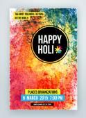 Krásné indické Happy Holi oslavy. Pozadí pro banner, karta, plakát, plakát