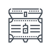 Treasure icon suitable for info graphics websites and print media and  interfaces Line vector icon