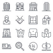 Search for house real estate icon suitable for info graphics websites and print media Vector flat icon clip art