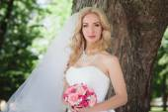 Portrét mladé krásné nevěsty
