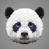 Panda portrait Low poly design Abstract polygonal illustration