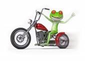 Žába na motocyklu