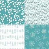 Collection of Christmas and Winter seamless patterns