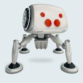 Futuristické spiderbot koncept
