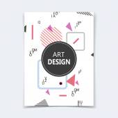 Abstract composition. Text frame surface. A4 brochure cover. Title sheet. Creative logo figure. Ad banner form texture. Circle, triangle, square, lines icon. Flyer fiber backdrop. Vector illustration