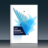 Abstract composition. Text frame surface. Brochure cover vector illustration. White title sheet. Creative logo figure. Ad banner form texture. Blue box block, azure triangle icon. Flyer fiber backdrop