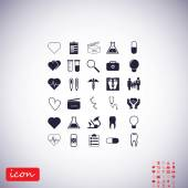 Medical icons set flat vector illustration