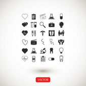 Medical icons set vector illustration