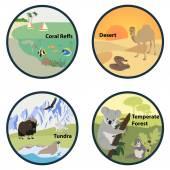 Habitats of the World vector set